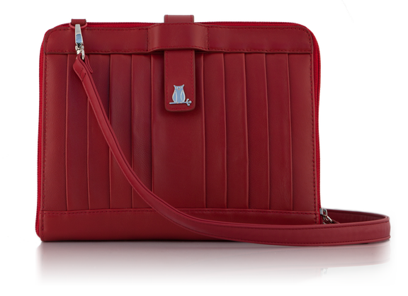 Red Leather iPad Clutch